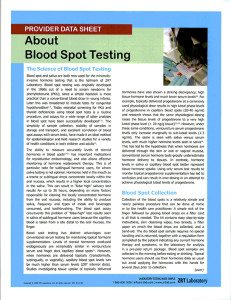 About Blood Spot Testing