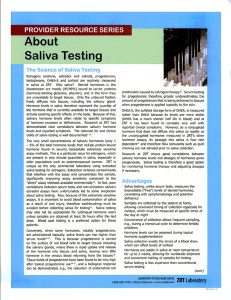 About Saliva Testing
