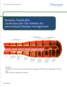 Berkeley Heartlab's Cardiovascular risk markers for personalized disease management