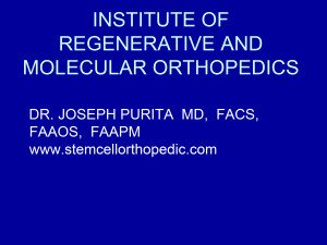 Institute of Regenerative and Molecular Orthopedics