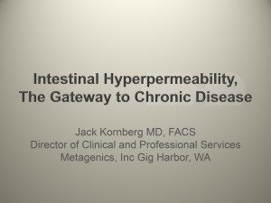 Intestinal Hyperpermeability - the Gateway to Chronic Disease