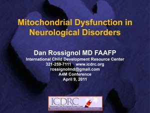 Mitochondrial Dysfunction in Neurological Disorders