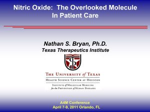 Nitric Oxide - the Overlooked Molecule In Patient Care