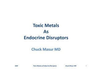 Toxic Metals as Endocrine Disruptors